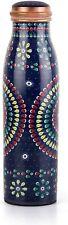 Copper Water Bottle Drinkware 1000 ml Mandala Pattern