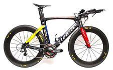 Wilier Twin Blade 700c Carbon Triathlon TT 11s Bike Size L 55cm Campagnolo Mavic