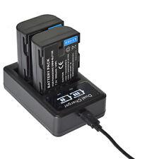 2 DMW-BLF19E Battery&LCD USB Charger for Panasonic Lumix DC-G9EG DMC-GH4A GH5L