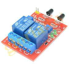 Free Newest Flame Sensor Module 12V 2-way Fire Flame Detector Alarm Relay Module