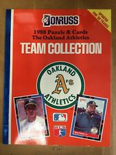 1988 Oakland A's Team Collection Puzzle & Cards DonRuss