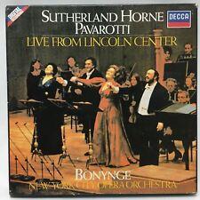 Sutherland Horne Pavarotti Live From The Lincoln Centre BONYNGE Cassette 1981