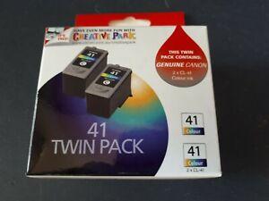Genuine Canon Pixma CL41 Standard Yield Fine Colour Ink Cartridge - 2 TWIN Pack