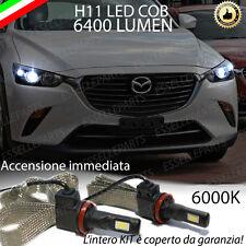KIT FULL LED MAZDA CX-3 CX3 LAMPADE ANABBAGLIANTI LED H11 6000K NO ERROR 6400 LM