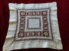 N03 ANCIEN MOUCHOIR POCHETTE EN SOIE DENTELLE DE SOIE 35X35cm Old handkerchief