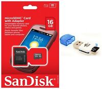 SanDisk 16GB Micro SD Card SDHC TF Class 4 Memory Card for Galaxy A3 A5 V Note 4