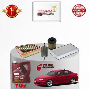 Kit Inspección Filtros Y Aceite Saab 9-3 II 1.8T 110KW 150CV 2011- >