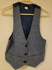 Women's Lux Blue Patterned Vest -Small