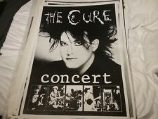 The Cure 1980S Concert 5 Photo Uk Poster 25 x 35 Nmint Rare Clean Vtg Htf!
