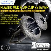 100pcs Fits Ford Falcon EL EF AU BA BF FG Plastic Clip Retainers XR6 XR8 FPV G6E