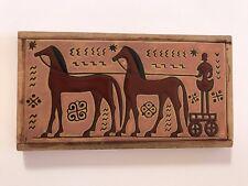 Greek Terracotta Delfi-Rodos ceramic tile Greece Wall Hanging Art MCM Horse