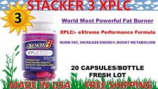 Stacker 3 XPLC 20 Capsules, 3 Bottles 60 ct Weight Loss & Energy Dietary 10/2022