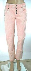 Jeans Donna Pantaloni MET Made in Italy C753 Gamba Dritta Rosa Tg 27 veste+