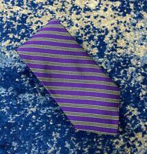 NEW Brooks Brothers Purple Blue Green Bias Stripes English Silk Necktie USA