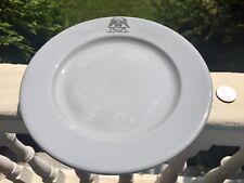 "Rare Corning Consistory(Mason's)Buffalo China Blue Lune 9"" Plate 2xEagle logo"