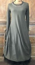 RUNDHOLZ   GORGEOUS  vert/ MILITARY GREEN  BUBBLE long sleeve  DRESS  s. S   NWT