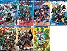 DC COMICS SUICIDE SQUAD #1 2 3 4 5 6 FULL RUN 1ST PRINT +REBIRTH JIM LEE SET/7