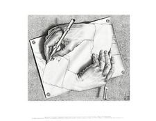 MC Escher Zeichnen Poster Kunstdruck Bild 28x35,5cm