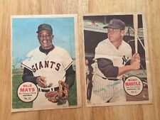 Lot Of 2 Vintage Mickey Mantle & Willie Mays  1967 Topps 5x7 PIN-UPS