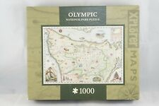 MasterPieces Xplorer Maps Olympic National Park Jigsaw Puzzle 1000 Pcs USA New