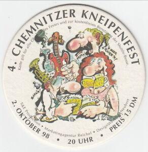 1 HEINEKEN 4. CHEMNITZER KNEIPENFEST BIERDECKEL BEERCOASTER SOUS BOCK VILTJE