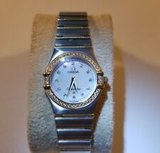 Omega Constellation Steel and Yellow Gold Diamond 25.5mm Ladies Watch 12777500