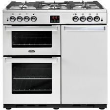 Belling Gourmet 90G Professional 90cm Gas Range Cooker Stainless Steel FA8782