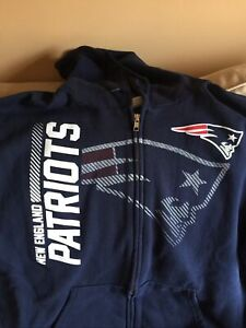 NWOT New England Patriots Full Zip Hooded Sweatshirt Size Large