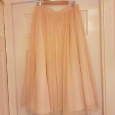 worn once asos pink tulle midi skirt 12