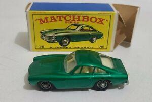 Matchbox Lesney #75. Ferrari Berlinetta In Original Box VNM