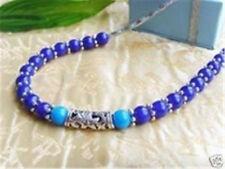Tibet silver amazing turquoise, lapis lazuli Bead Necklace
