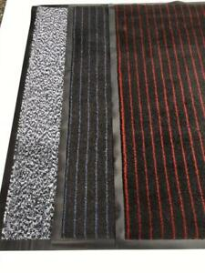 INDUSTRIAL BARRIER HARD WEARING ENTRANCE MAT 60X90CM EASY CLEAN GREY RED OFFICES