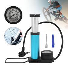 Mini Bike Pump Portable Bicycle Tyre Inflator Foot Pump Schrader Presta Valve