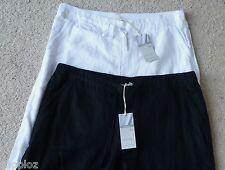 Ladies M&S Sizes 6 8 12 14 Pure Linen Wide Leg Trousers Bnwt