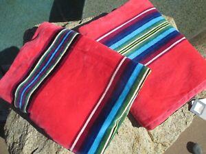 2 SET Pendleton Spa Bath Towel Pool Beach Home Collection NWT Stripe Pink Multi