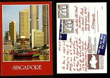 SINGAPORE VINTAGE  POSTCARD -STAMP-SINGAPORE-....