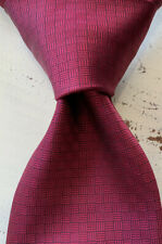 Brooks Brothers '346' Men's Red Woven Textured Silk USA made Neck Tie