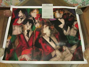 """""""Grand Orchestre"""" by Linda Le Kinff Seriolithograph on Paper 25"""" x 31 7/8"""" COA"""