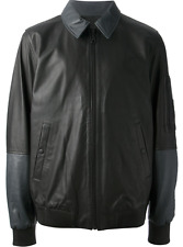 Kenzo Men's Black Leather Jacket-Size S