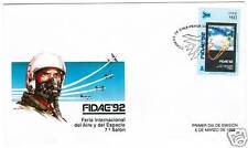 Chile 1992 FDC First Day Cover Fidae, Aviation Aircraft Airplane