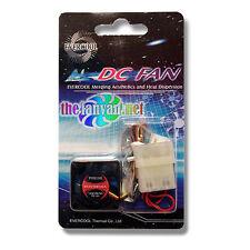 Evercool 30mm x 10mm 12v Fan EC3010M12CA 3 Pin/Wire + Molex Adapter + Screws