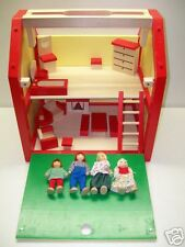 Galt Dolls Lot Wood Wooden Dollhouse & Furniture