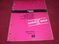 John Deere Operator's Cab for 5200 5400 Forage Harvester Operator's Manual