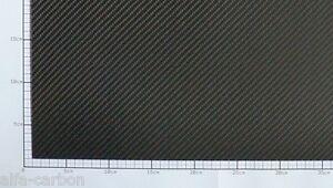 1mm CFK Carbon Platte  Länge 300mm-600mm x Breite 100mm-400mm