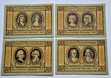 LAUCHSTEDT NOTGELD 4x 50 PFENNIG 1921 COMPLETE SET GERMANY BANKNOTES (5784)