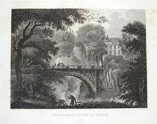 BARSKIMMING, Nr. MAUCHLINE, AYRSHIRE, SCOTLAND, original antique print 1819