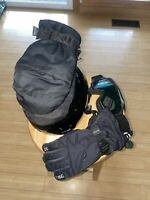 Head Snow Gloves S/helmet S/mittens S/goggles S All Youth Size/ Please Read Disc