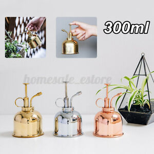 300ml Mini Copper Plant Mister Plunger Spray Watering Cans Potted Sprayin