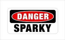 Danger SPARKY Hard Hat Sticker Motorcycle Helmet Decal Welder Electrician