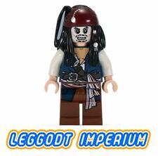 LEGO Captain Jack Sparrow skeleton - Pirates Caribbean minifig poc012 FREE POST